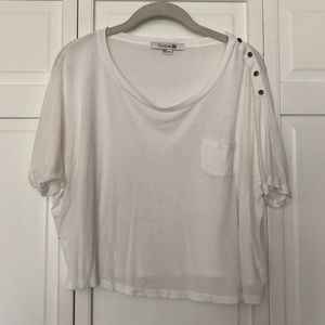 Forever 21 white boxy crop top